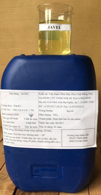 Na(OCl) – Natri Hypoclorit (Javel 100g/l) – Việt Nam